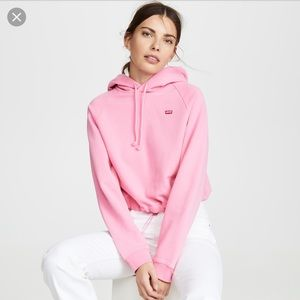 LEVIS CROPPED HOODIE WITH CINCHED WAIST XS